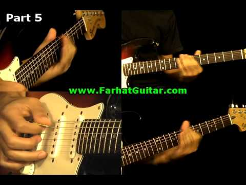 Money Pink Floyd Guitar Cover Part  9  Full Song www.farhatguitar.com