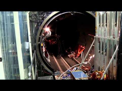 TIRS TVAC1 Opening the Vacuum Chamber