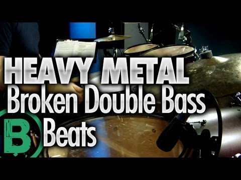 Heavy Metal Drum Beats - Double Pedal - Beginner Drum Lessons