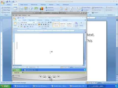 Word 2007 Tutorial 23 - Inserting Movie Files (Avi, Mov, MPEG, Flash SWF)
