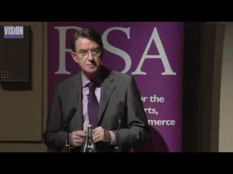 Peter Mandelson - Building Britain's Future Prosperity