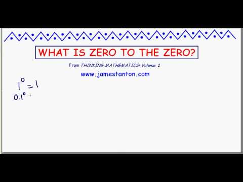 What is zero raised to the zeroth power? (TANTON_Mathematics)