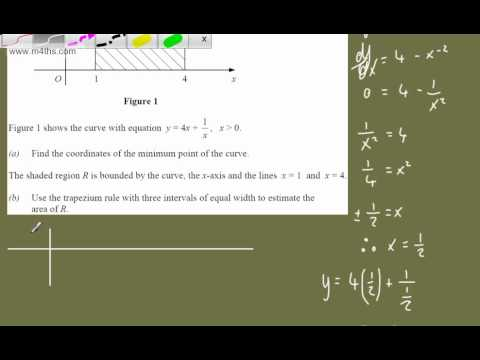 (q6) C2 Exam Practice 2 - LAST MINUTE REVISION ONLY - trapezium rule - Core 2 Edexcel