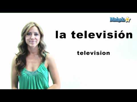 "How to Say ""Television"" in Spanish"