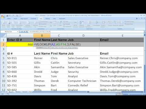 Excel Lookup/Search Tip 7 - Vlookup on Data that has a Prefix before it