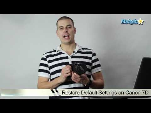 How to Restore a Canon 7D DSLR to Default Settings
