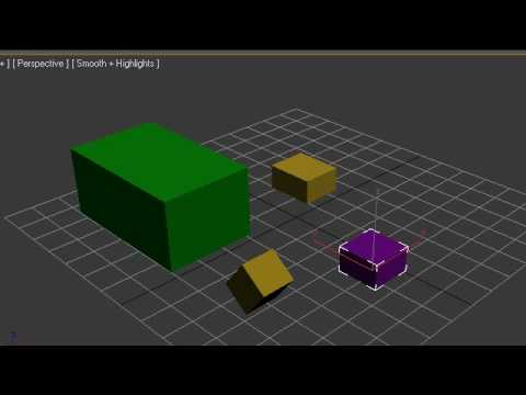 3Ds Max Tutorial - 9 - Grouping and Linking