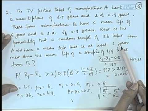 Mod-01 Lec-23 Sampling Distributions - I