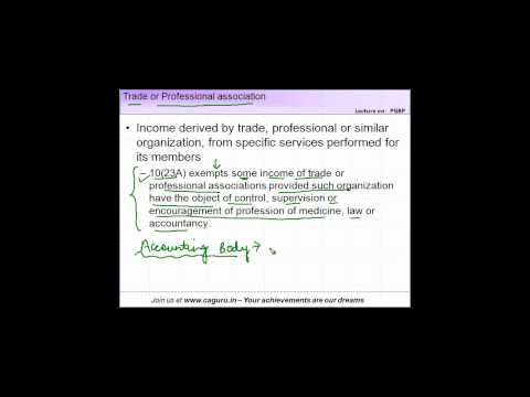 818. CA IPCC   PGBP   Chargeability   Trade or Professional association