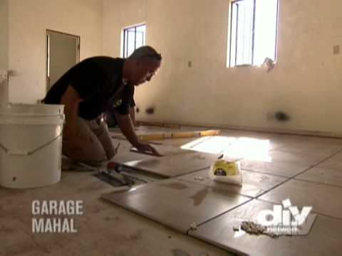 Garage Tile Floor-DIY