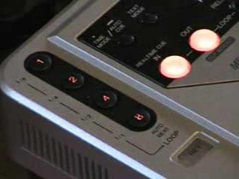 Dj Tutorial, Video 5, The loop function of a Pioneer CDJ-800 turntable