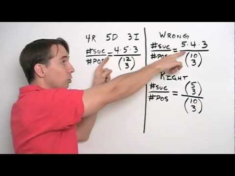 Art of Problem Solving: Probability and Combinations Part 3