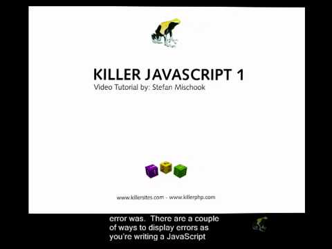 Beginner's Javascript Closed Captioned - Viewing Javascript Errors