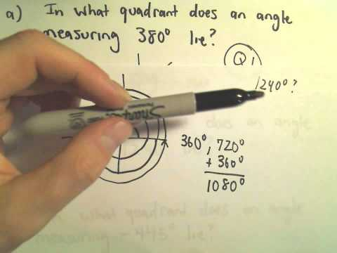 Finding the Quadrant in Which an Angle Lies - Example 2