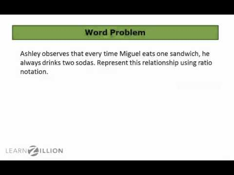 Translate word problems into ratios - 6.RP.1