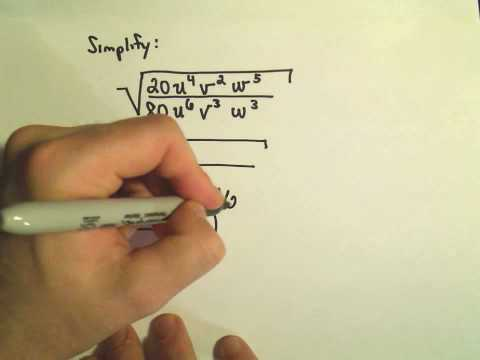 Simplifying Radical Expressions Involving Variables - Example 2