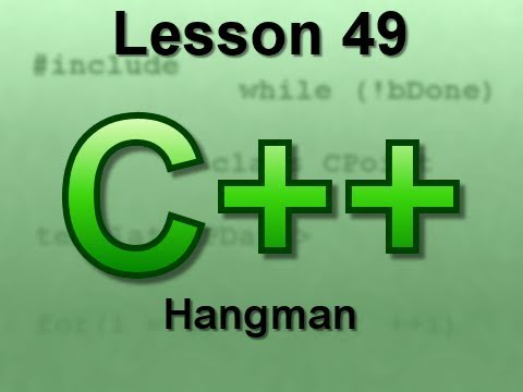 C++ Console Lesson 49: Hangman