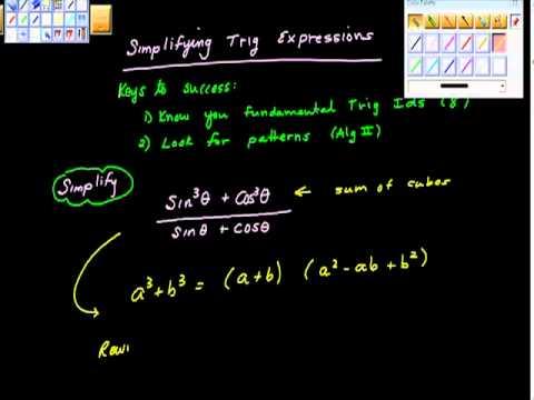 Simplifying Trigonometric Expressions Precalculus