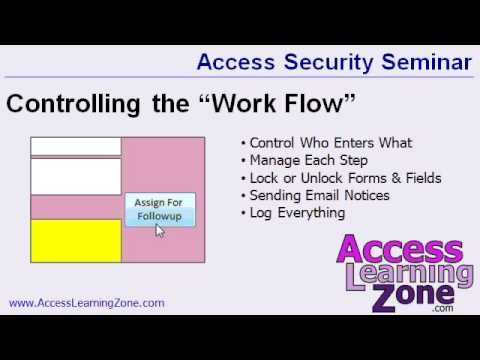 Microsoft Access Database Security Seminar Preview