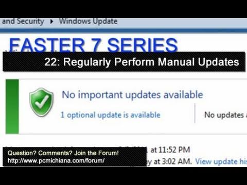 How To Perform Manual Windows 7 Updates - Ep. 22