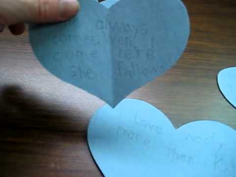 Valentine: Educational heart activity idea for story-writing and sequencing events.