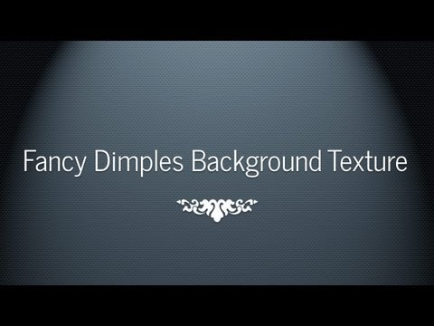 Fancy Dimpled Background Texture Tutorial -Photoshop