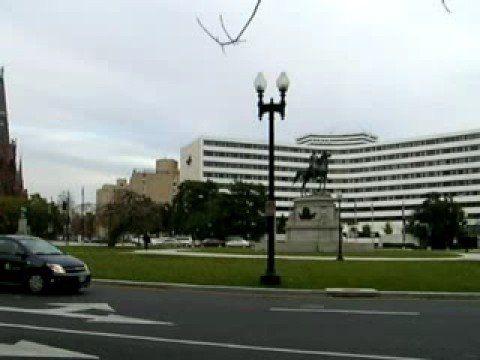 Traffic circle in Washington DC