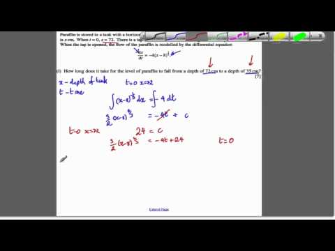 Core 4 OCR Jan 2009 Q9 - Differential Equations (9)