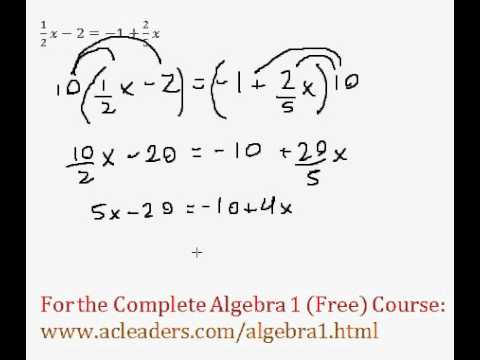 Equations With Fractions - Multiple Steps #5