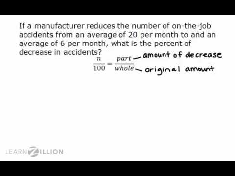 Find the percent of decrease using a proportion - 7.RP.3