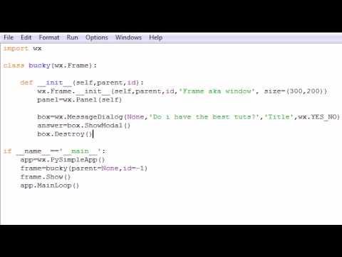 wxPython Programming Tutorial - 4 - Using Message Dialog