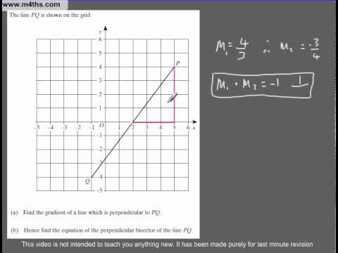 Q77 A Star GCSE Revision Questions perpendicular linear equations