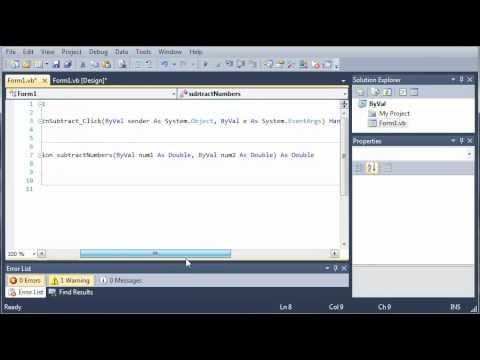 Visual Basic Tutorial - 44 - ByVal