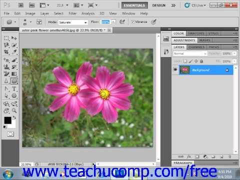 Photoshop CS5 Tutorial The Sponge Tool Adobe Training Lesson 14.9