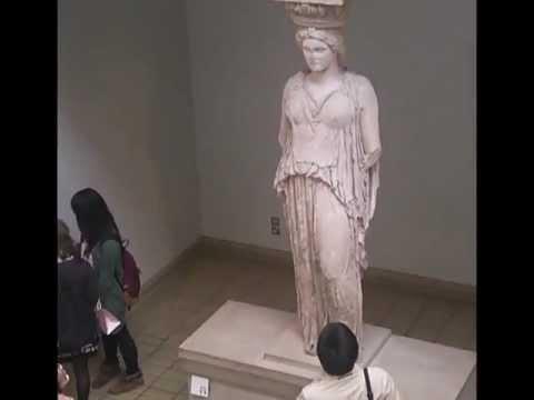 Caryatid & Ionic Column, Erechtheion, 421-407 B.C.E.