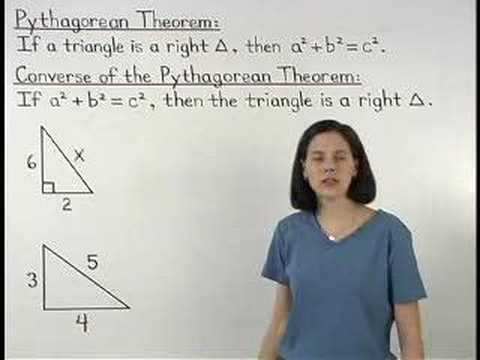 Converse of Pythagorean Theorem - YourTeacher.com - Math Help