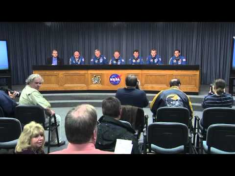 Endeavour Crew Speaks with Media at NASA's Kennedy Space Center