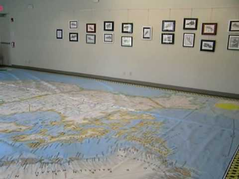Unrolling and Setting Up the National Geographic North America Map