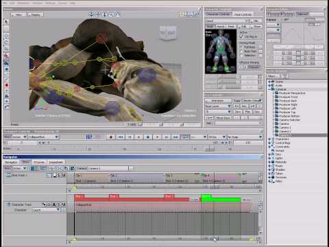 MotionBuilder Demo - Camera Cuts with the Story Tool