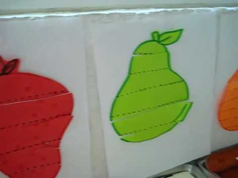 Arts Crafts-Cutting practice with foods