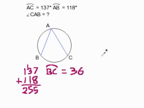 How to Find an Inscribed Angle II