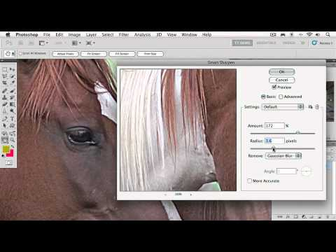 Adobe Photoshop CS5 Extended Ch15 PRINT & WEB OUTPUT  Sharpening Images with Smart Sharpen