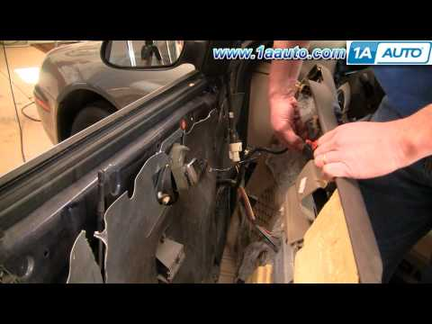 How to Install Replace Broken Side Rear View Mirror Mercury Sable 00-05 1AAuto.com