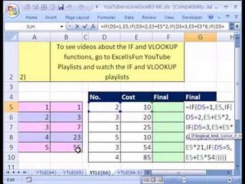 YTLE#66: VLOOKUP replaces IF, Again!