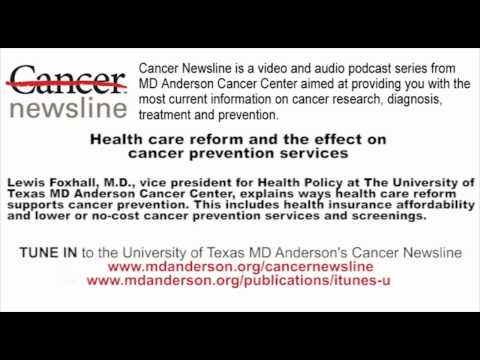 Health care reform and the effect on cancer prevention services