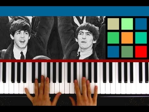 "How To Play ""Michelle"" Piano Tutorial / Sheet Music (The Beatles)"