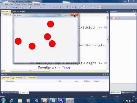 Visual Basic 2010 Express Tutorial 13 - Making Parallel Arrays - Animation