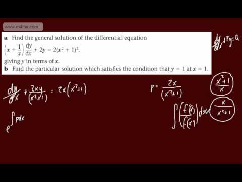 (7) FP2 - First Order Differential equations (Exam question using integrating factor)