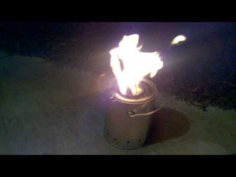 DIY-Wood Gas Camp Stove Pt #2 - Initial Burn Test