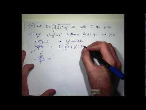 Triple integral in cylindrical co ordinates